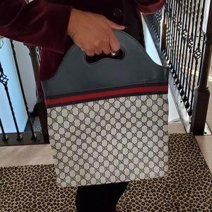 Blue Vintage Gucci Shopper Tote Handbag Authentic